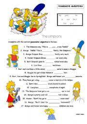 esl kids worksheets possessive adjectives