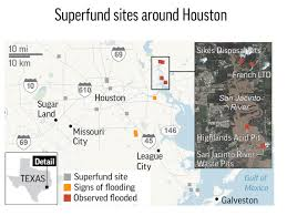 Superfund Sites Map by Ap Exclusive Toxic Waste Sites Flooded In Houston Area