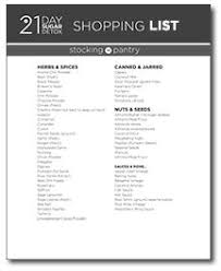the 21 day sugar detox meal plan shopping lists level 3 already