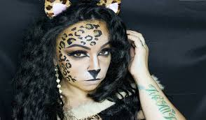 leopard kitty halloween tutorial youtube