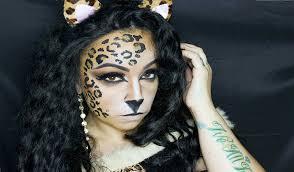 halloween kitty face leopard kitty halloween tutorial youtube