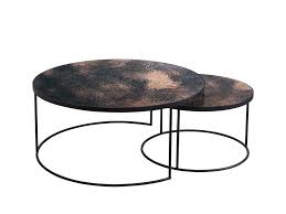 glass coffee table nest 10 collection of contemporary nesting coffee table round