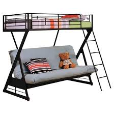 Zazie Kids Futon Bunk Bed Sandy BlackTwinFull Acme  Target - Futon bunk bed
