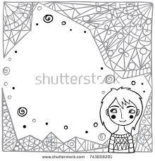 children drawings seamless pattern stock vector 236699935