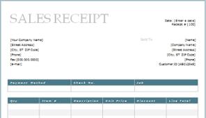 sales receipt template 10