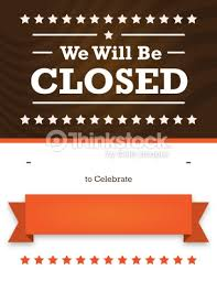 autumn closed sign for business stock illustration