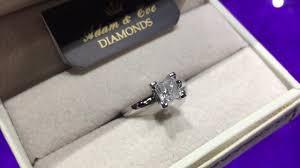 inel logodna aur alb inel logodna aur alb cu diamant princess cut 1 02ct