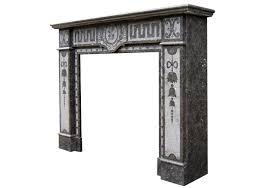 arts u0026 crafts fireplace mantel in belgian fossil marble 19th