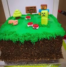 mine craft cakes minecraft cake crinkles