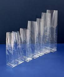 56 cellophane bags with gusset large cellophane gusset bags 178mm