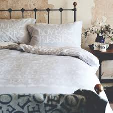 black toast silver bed linen by emma bridgewater house of bedding