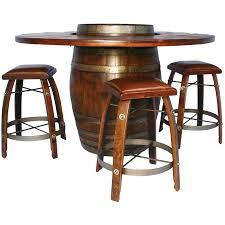 Wine Bar Table Wine Barrel Pub Table Home Wood Furniture Wine Barrel Pub Table
