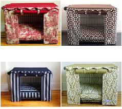 dog crate dog crate cover puppies pinterest crate stylish solution to unsightly pet crates daily delights