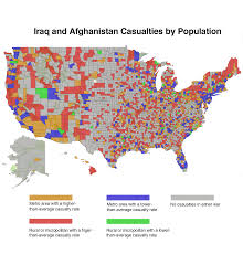Iraq Map World by Soldiers U0027 Death Rate Reveals U0027two Americas U0027 Daily Yonder