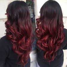 dark brown to red ombre the beauty industry pinterest red