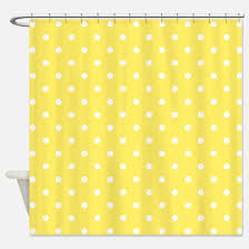 White And Yellow Shower Curtain Yellow Shower Curtains Cafepress