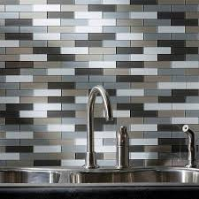 aspect peel stick tiles offered by diy decor store aspect backsplash mini subway in rustic clay glass matted