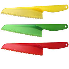 zyliss lettuce knife plastic salad knife assorted colours at