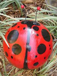 Metal Bugs Garden Decor 25 Unique Bowling Ball Ladybug Ideas On Pinterest Bowling Ball