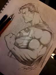 superman pencil comission by sajad126 on deviantart