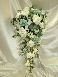 mint green flowers mint wedding flower bouquets brides teardrop bouquet mint green