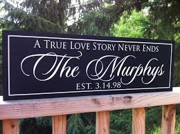 50th anniversary gift a true story never ends wooden signs 50th anniversary gift