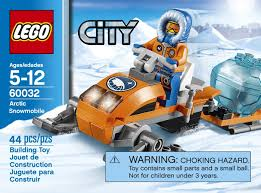 amazon com lego city arctic snowmobile 60032 building toy toys