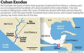 Cuba South America Map by New Exodus Of Cubans Headed To The U S Is Underway Across The