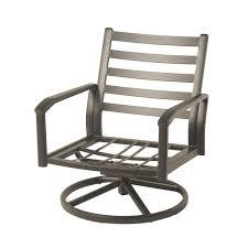 hanamint westfield cast swivel club chair outdoor furniture