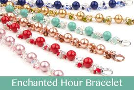 crystal pearl bracelet swarovski images Enchanted hour bracelet jpg