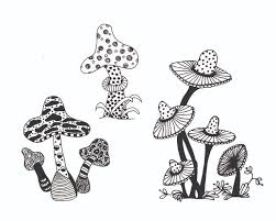 free mushrooms coloring colouring mushrooms
