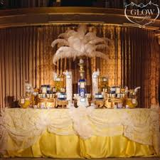 rose gold candy table specialty tables glow concepts fine linen rental