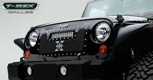 jeep lights t rex jeep wrangler torch series led light grille 1 12