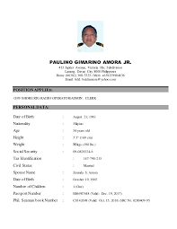 Resume Samples With Photo by Best Ideas Of Seafarer Resume Sample In Download Gallery