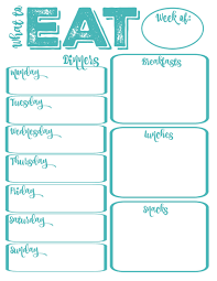 weekly family meal planner template pantry makeover free printable weekly meal planner and shopping what to eat weekly meal planning free printable in aqua at thehappyhousie com