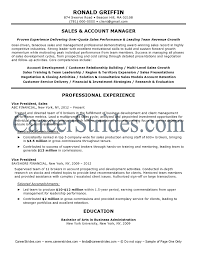 Resume Sample For Account Manager by Sales Account Manager Resume Account Manager Ronald Griffin