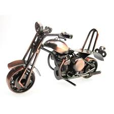 vintage motorcycle model retro motor figurine iron motorbike prop
