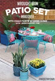 Patio Furniture Wrought Iron Dining Sets - best 25 painted patio furniture ideas on pinterest painting