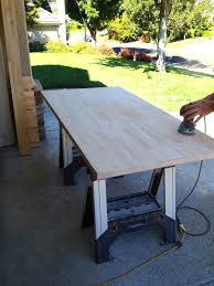 building the perfect custom desk sander you don t have to sand both sides but it will make it look better in the end plus you can choose a better side once you ve gotten the cheap
