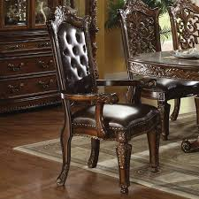 Acme Furniture Dining Room Set Vendome 7 Piece Glass Top Double Pedestal Table Dining Set In