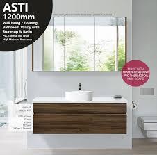 Bathroom Vanity Stone Top by Asti 1200mm Walnut Oak Pvc Thermal Foil Timber Wood Grain Vanity