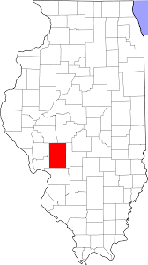 Maps Of Illinois by File Map Of Illinois Highlighting Macoupin County Svg Wikimedia