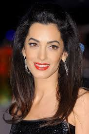 is amal clooney hair one length amal clooney beauty look book