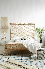 curved bed frame curved rattan bed anthropologie