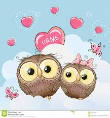Owl Lovers by Cute Lovers Owls Stock Vector Image 66716852