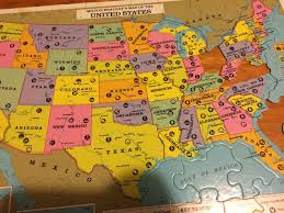 Usa Puzzle Map by Milton Bradley Map Of The United States Puzzle Incomplete Craft