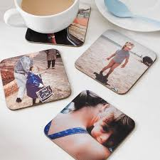 Drink Coasters by Set Of Four Personalised Drinks Coasters By Instajunction