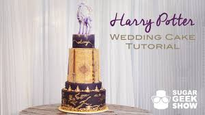 harry potter wedding cake promo youtube