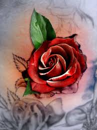 3d flower tattoos roses and orchids 3d tattoos