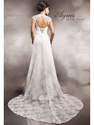 key back wedding dress agnes 11274 ivory lace wedding dress with